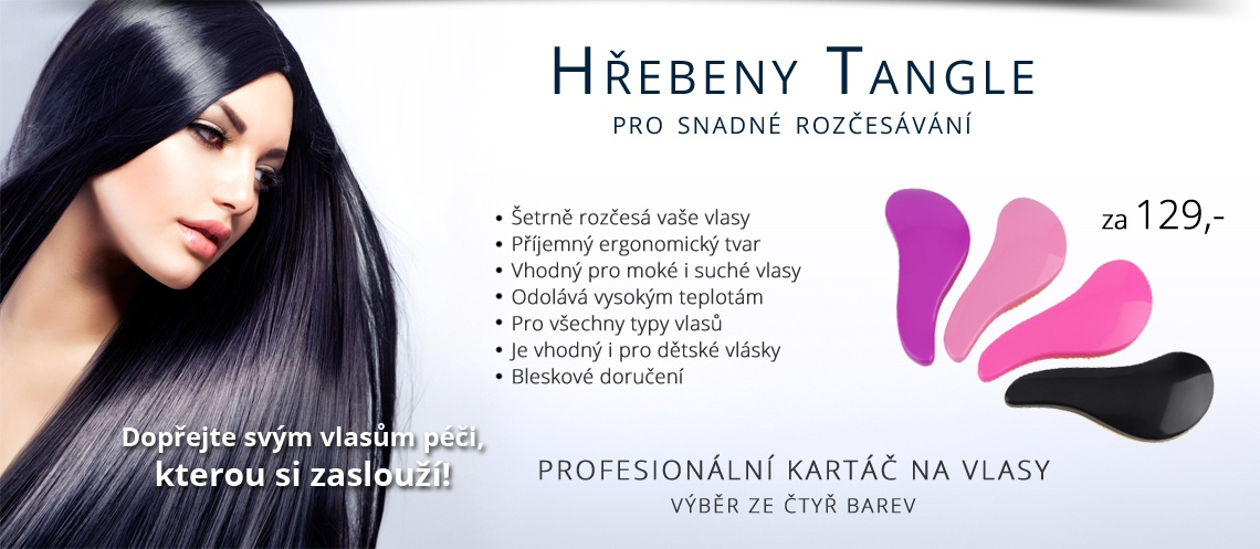 tangle hřeben